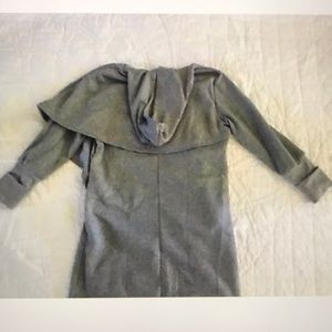 NEW 2X Gray Wrap Hooded Sweatshirt with Pockets